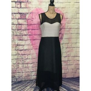 P. Luca Milano Horizontal Black/White Dress